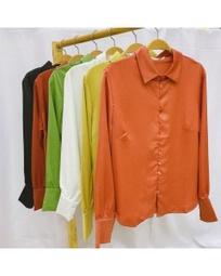 Camisa manga monga com botões forrado Golden Tulip