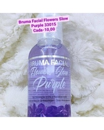 Bruma facial flowers slow purple R$10,00 mínimo 5 R$50,00