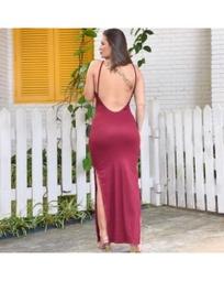 Vestido fenda lateral ❤️