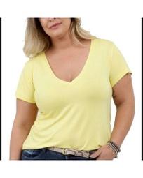 Blusa Feminina plus Size G1 G2 G3 Gola V