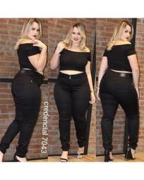 Calça Jeans preta plus size