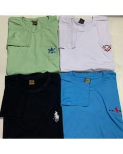 Camiseta All Lexy Modas manga longa cola redonda  bordada