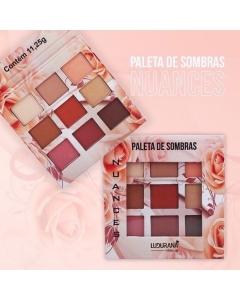 Paleta De Sombras 9 Cores Nuances Ludurana B00006