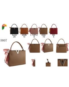 H807 bolsa de mão estruturada c/lenço