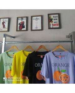 Semi Cropped Plus Size Orange.