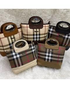 Kits 3 peças Bolsas Femininas de mão com alça transvesal estampa Burberry