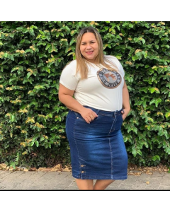 Saia Jeans Plus Size Blessed Store