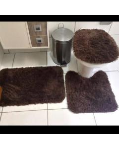 Kit de banheiro felpudo