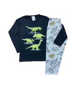 Kit 5 Pijama Camiseta manga longa Calça Inverno Menino Kids