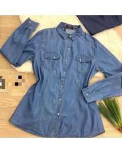 Camisa jeansPlus Size Charme Infinito