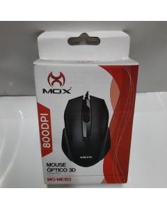 Mouse  Óptico 3D com fio resolução de 800DPI
