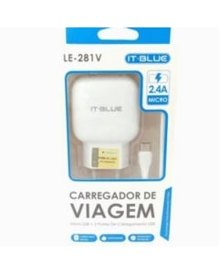 carregador para celular entrada V8 de 2.4a LE-281V produto homolagado anatel