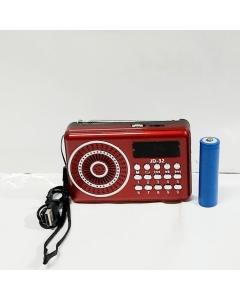 RADIO BLUETOOTH/FM /STCARD/ com bateria  recarregável