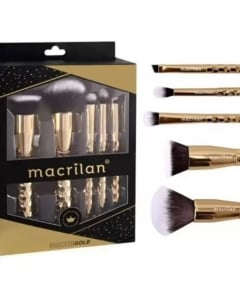 Kit Pincel Precious Gold Macrilan c/5 unidades
