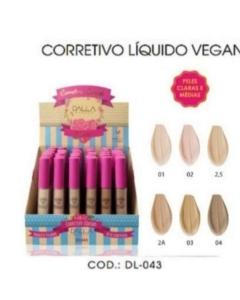 Corretivo Líquido Vegano Dalla Makeup Box C/36 Unidades