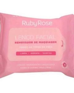 Lenço Demaquilante Removedor Maquiagem Ruby Rose C/ 25 Unidades