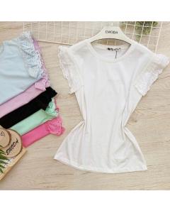 T-shirt de algodão E -32052