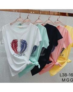 T-shirts Camiseta algodão Flora