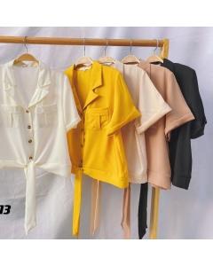 Camisa feminina manga curta #1113 Golden Tulip