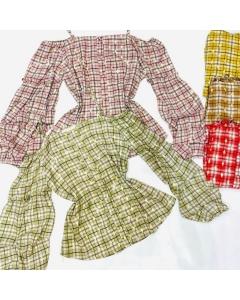 Blusa ciganinha xadesy feminina manga longa moda