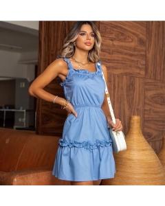 Vestido tricoline Kistyle modas