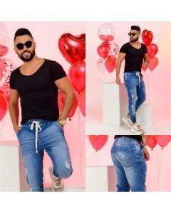 Calça jogguer masculina Jeans