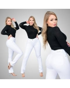 Calça Jeans Flare Branca