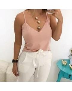 Blusa alcinha suede  (GG) Laís Boutik's