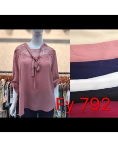 Blusa Plus Size crepe.  FY-792