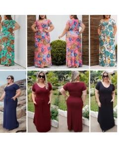 Plus Size Vestido Viscolycra