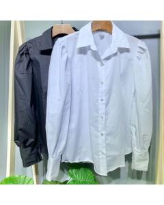 Camisa bufante de tricoline