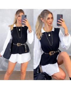 Max Colete Tricô Moda Blogueira Gringa