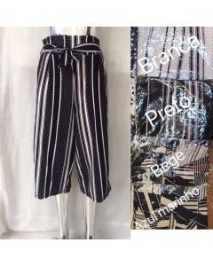Calça pantacut com cinto feminina                                      Maya Modas