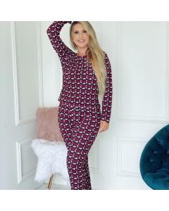 Pijama manga longa + calça liganete confortável Melina Store