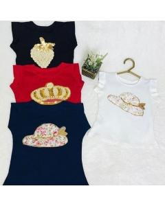 Camisa com detalhes Mimosa Marlu Kids