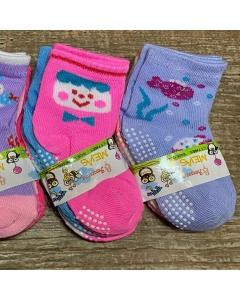 12 pares de meias bebê de 12 - 24 meses com antiderrapantes