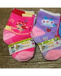 12 pares meias de bebê de 0 a 6 meses com antiderrapantes