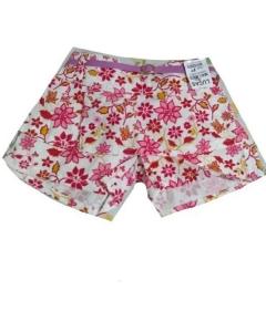 Shorts com cinto em Brim estampado
