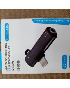 Adaptador LIGHTNING para fone e carregador