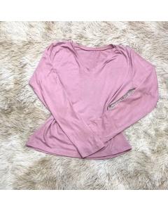 Blusa feminina manga longa decote camisa Nicole Chic
