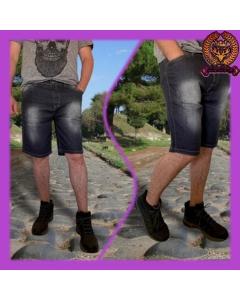 Bermuda jeans masculina com lycra fabricante paul_a_beatri_z_jeans