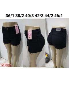 Short Jeans Preto Desfiado