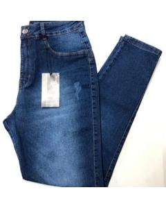 Calça Denim premium jeans cintura alta lycra tom sobre tom