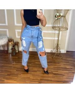 Calça mom Pop Modas Jeans