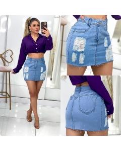 Saia jeans novidade Rita Modass