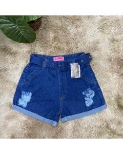 Short jeans com cinto Rita Modass