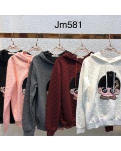 Moletom blusa de frio top Varias cores  - JM581 Sister Fashion