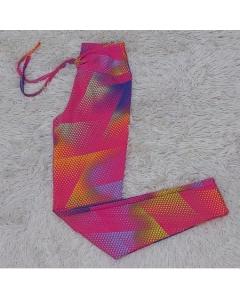 Calça Legging estampada legue com cordinha leg repuxe moda fitnes moda academia