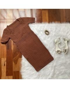 Vestido de tricot modal
