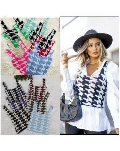 Cropedes de tricot disponível em várias cores